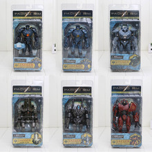 6pcs/set 7inch NECA Action Figures Pacific Rim Jaeger Gipsy Danger and Battle Damage Gipsy Danger PVC  Collectible Model Toy