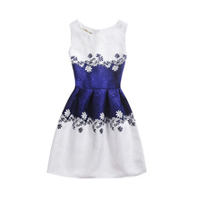 New Girls Vestido Baby Girls Festa Summer casual Dress Vintage Party Vestidos Plus Size Children's Clothing Bodycon Dress(China)