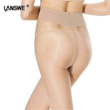 LANSWE EURO Size Women T-crotch Brand Nylon Pantyhose Solid color Female 20D thin Tights Anti-hook Lady Stocking hosiery langsha(China)