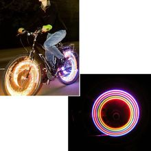 2pcs/1 Pair Bike Bicycle Cycling Car Tyre Wheel Neon Valve Firefly Spoke LED Light Lamp 5 LED Colorful Light Lamp(China)