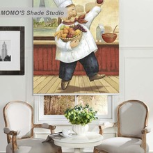 MOMO Thermal Insulated Blackout Fabric Custom Painting Window Curtains Roller Shades Blinds,PRB set433-436