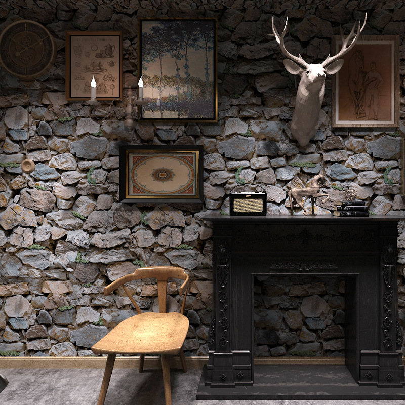 Beibehang 3D simulation stone rock wallpaper Featured Hotel clothing store bar KTV realistic stone stone brick 3d wallpaper roll<br>