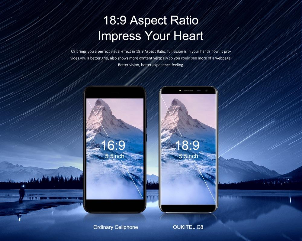 oukitel c8 Smartphone (7)