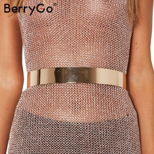 BerryGo Metal button buckle high quality waist belt Fashion adjustable women belt cummerbunds Simple belts cummerbunds(China)