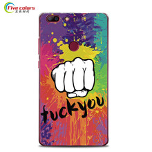 Five colors Elephone C1 Max Case Hard Plastic Cartoon Painting Protective Back Cover For Elephone C1 Max Mobile Phone - In Stock(China)