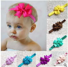 New infant Kids hair bows flower Headband newborn toddler ribbon Hair Band butterfly DIY hair accessories for children A067,4