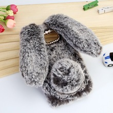 For Samsung Galaxy J3 J5 J7 2017 Emerge J327P Case Cute Rabbit Doll Plush Cover For Girls Hairy Fur bunny Phone Cases J727P J530
