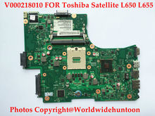 laptop motherboard for toshiba satellite L650 C650 L655 V000218010 6050A2332401 1310A2332404 HM55 PGA989 DDR3 Fully tested