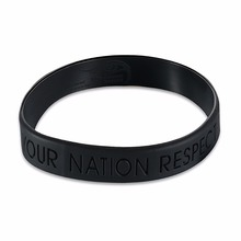Love Your Nation Respect The Others Black Rubber Bracelet Wristband Cuff Bangle Promotion Gifts(China)