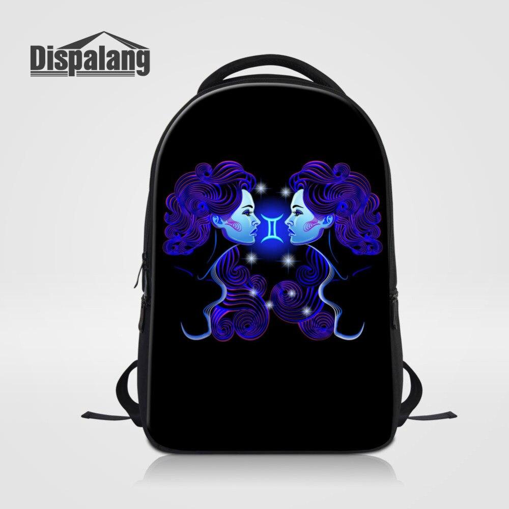 Dispalang Women Laptop Backpack Constellation Gemini Printing Backpack For Men School Bag Kids Bagpack For Teenagers Schoolbag<br>