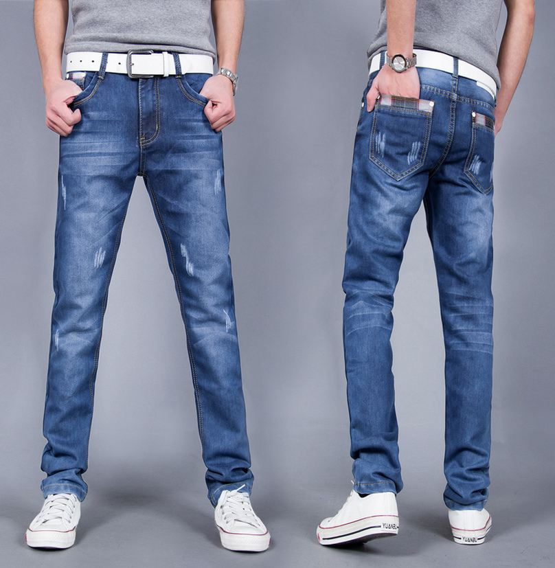 Brand 2017 Spring Summer Mid Waist Straight Fashion Jeans Men Clothing Casual Denim Mens Jeans Big Size 28-38,40Одежда и ак�е��уары<br><br><br>Aliexpress