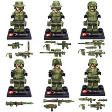 Limited Camouflage Falcon Commandos Counte Terrorism Eagle Hunting Small Toy Figure Military Army Desert War Weapon Building Kit(China)