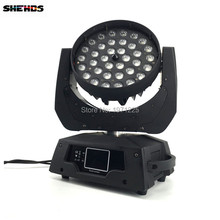 2PCS LED Moving Head Wash Light LED Zoom Wash 36x18W RGBWA+UV Color DMX Stage Moving Heads Wash Touch Screen