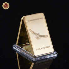 Fine Gold Bar Worth Collection American Bald Eagle Grand Canyon National Park Fake  .999 Fine Gold Clad
