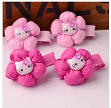 YWHUANSE 20pcs/lot Popular hello kitty hair bands hair clips for kid Nice hair accessories children Great girls hair decorations