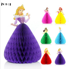 1 pcs Creative Dancing princess children birthday Invitations card 3D greeting card message card greeting cards for kids