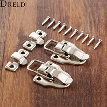 DRELD 2Pcs Vintage Jewelry Wood Box Hasps Drawer Latches Decorative Suitcases Hasp Latch Buckle Clasp Furniture Hardware 40*56MM