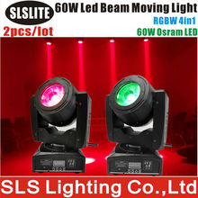 2PCS/LOT Fast Moving Items From China X&Y Infinite Rotate Sharpy Beam 60W LED Mini Moving Head rgbw 512 dmx control led stage
