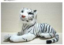 small cute plush tiger toys lovely white tiger toy stuffed tiger doll white tiger pillow birthday gift 40cm