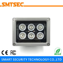 SI-6W 6PCS LED 30M Distance 15-90 Degrees Optional White Light Illuminator Light Lamp For CCTV Surveillance Camera System(China)