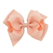 10pcs/pack 15cm or 6inch Large Boutique Hair Bows Teens Girls Alligator Clips Double Layered Pinwheel Bows Peach Tan Dusty Pink
