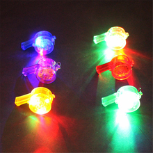 30pcs/lot Funny Colorful Flashing Whistles Blinking Growing Toy LED Party Supplies Lighting up Toy cotillon Show Decoration(China)