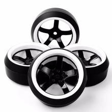 RC Drift Tires 1/10 Wheel Rim Fit HPI 1:10 On-Road Racing Car 3 Degree 12mm Hex Accessory