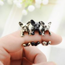 HOT SALE French Bulldog Ring Adjustable Animal Dog Ring Jewelry Zinc Alloy Retro Ring For Men And Women Lovers' Fashion Jewelry