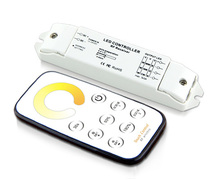 Bincolor T2+R3 Mini RF led CT controller color temperature control with touch remote control DC5V-DC24V input;Max  3A*3CH