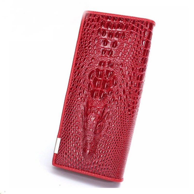 New Women Wallet Female Card Holder Coin Purses Holders Leather Embossing Alligator Ladies Crocodile Long Clutch Wallets 010<br><br>Aliexpress