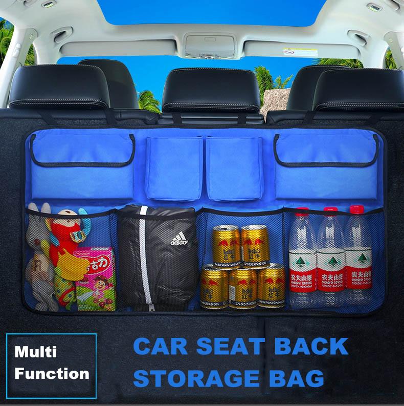 Oxford 600D Car Trunk Organizer - Storage, Water Drink Bottle Hanger