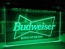 LE009- Budweiser King Beer Bar Pub Club   LED Neon Light Sign  home decor  crafts