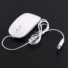 Newest USB Wired 1600DPI Optical Slim Ultra Thin Mouse Mice For Computer Laptop Free Shipping