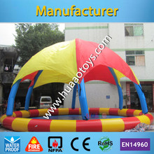 Commercial Colorful Rainbow Inflatable Swimming Pool With Tent Cover(Free air pump+repair kit)(China)