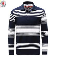 Fredd Marshall 2017 Autumn Mens Striped Polo Shirts Long Sleeve Brands Polo Shirt 100%Cotton Male Camisas Polo Plus Size 3XL 735(China)