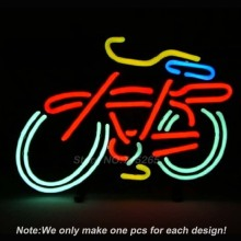 Fat Tire Bicycle Bike Logo Neon Light Sign Real Glass Tube Handcraft Custom LOGO Neon Bulbs Recreation Room Wall Sign 17x14