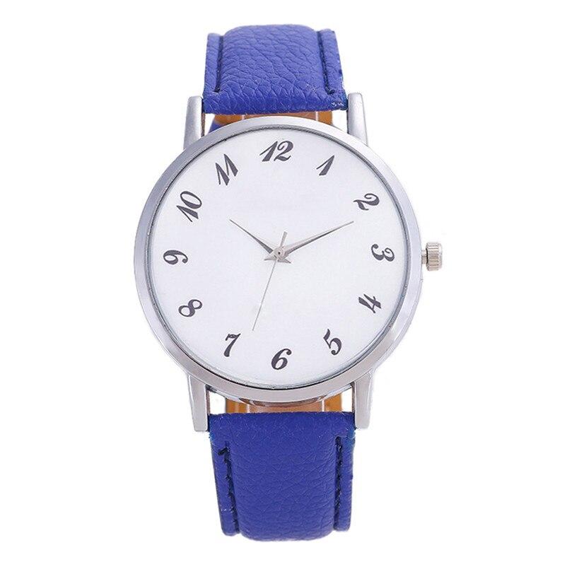 2018 High Quality women fashion casual watch luxury dress Beautiful Fashion Simple Watch Leather band Watch Reloj mujer J06#N (3)