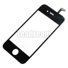 10pcs/lot Black White Touch Screen Digitizer for iPhone 4 4s Front Touch Panel Glass Lens(China)