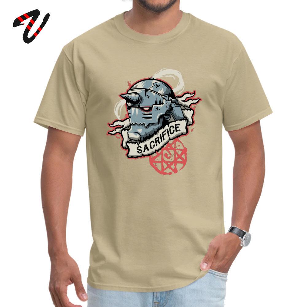 2018 New Fashion Men T-shirts Crew Neck Short Sleeve Pure Cotton Sacrifice Tops Tees Casual T-shirts Wholesale Sacrifice 15340 beige