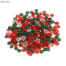 Top Quality Resin Buttons 300 Pcs Christmas Color Decorative Scrapbooking 2 Holes Sewing Promotions Round Mixed 9mm(China)