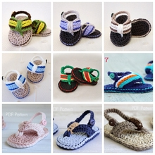 New Crochet lovely baby boy Sandals Crochet Baby Shoes, Gladiator Sandals Baby Flip Flops Heart-shaped, 50pairs