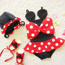 2017 Cute Mickey Girl Baby Swimwear High-quality Swimwear Lovely One Piece Summer Babys Bathing Suit Free Shipping