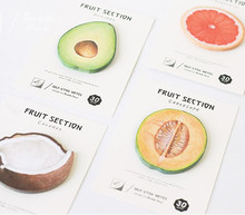 New cute Japanese fruit notepad paper sticky message note Memo pad