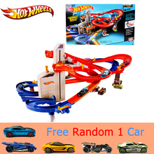 Genuine Hot Wheels Sport Car Track Suit brinquedo Educativo Car Track Exciting Coupe Hotwheels Track CDR08 Toys For Kid(China)