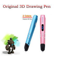 High Quality 3 D Pens Add 100 Meter 20 Color ABS Filaments 3D Pen Use 1.75mm ABS/PLA Children Best Intelligence Education Gifts(China)