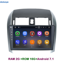 Aoluoya RAM2G Android 7.1 CAR DVD PLAYER For Toyota Corolla 2007-2010 2011 2012 CAR Stereo Radio GPS Navigation multimedia WIFI(China)