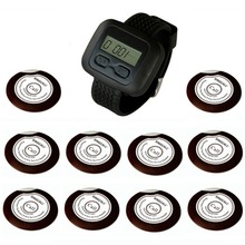 SINGCALL wireless calling pager systems, remote call button for kitchen, hotel, waiter service, 10 Bells and 1 receiver