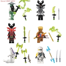6pcs Decool 10047-10052 Ninja MASTER YANG GENERAL KOZU Pythor Echo Zane mit Samurai X Chaos building blocks  bricks toys