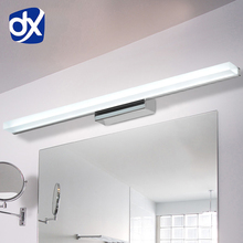 DX Longer LED Mirror Light 0.4M~1.5M AC90-260V Modern Cosmetic Acrylic Wall lamp Bathroom Lighting Waterproof Free Shipping(China)