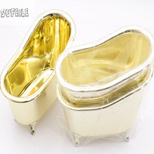 1PC Bathroom accessories mini Bathtub White soap storage box Toothbrush Toothpaste Induction Box Snack storage box d5(China)